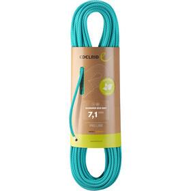 Edelrid Skimmer Plus Dry Rope 7,1mm x 50m, turkusowy